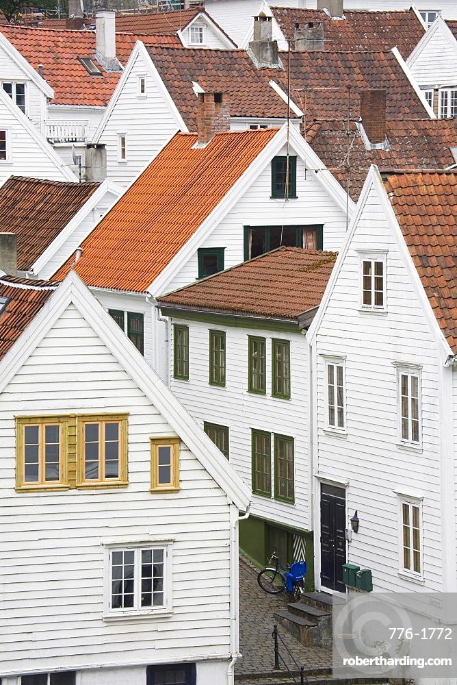 Clausegaten Street in Gamble (Old) Stavanger, Stavanger City, Ragoland District, Norway, Scandinavia, Europe