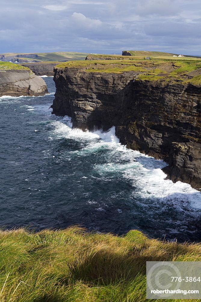 Cliffs on Loop Head, Kilrush, County Clare, Munster, Republic of Ireland, Europe