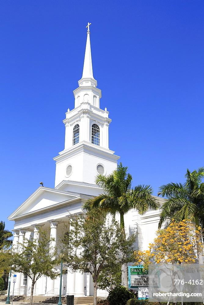 First Baptist Church, Main Street, Sarasota, Florida, United States of America, North America