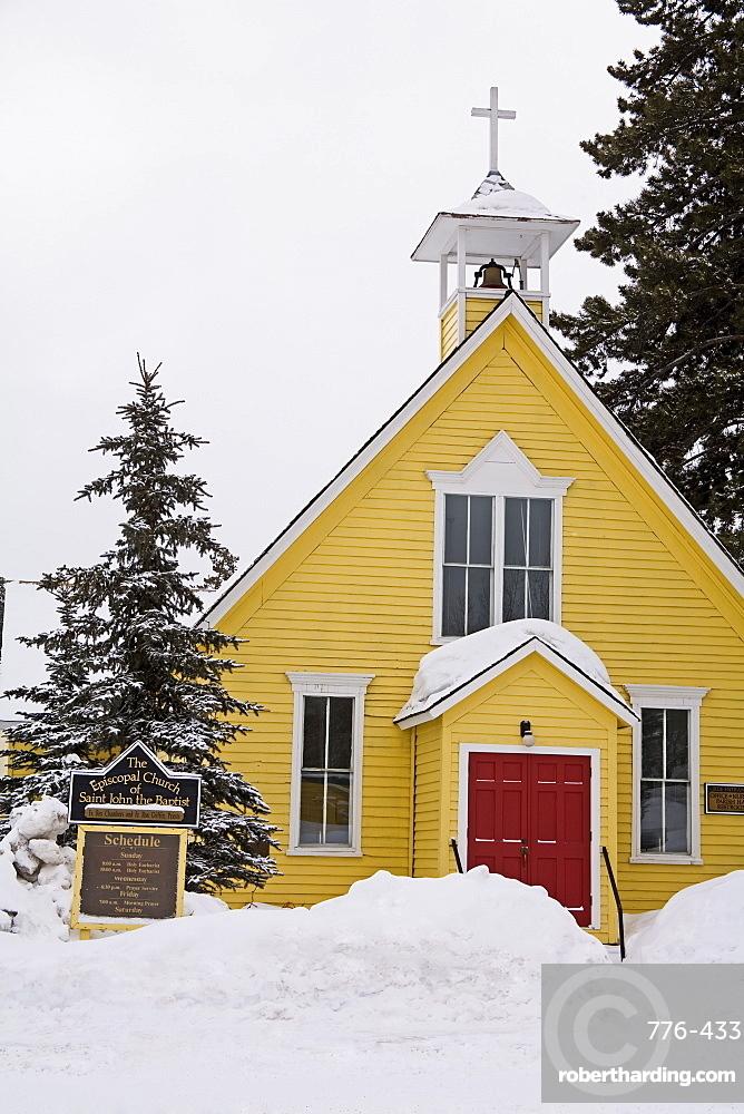 Episcopal church, Breckenridge, Rocky Mountains, Colorado, United States of America, North America