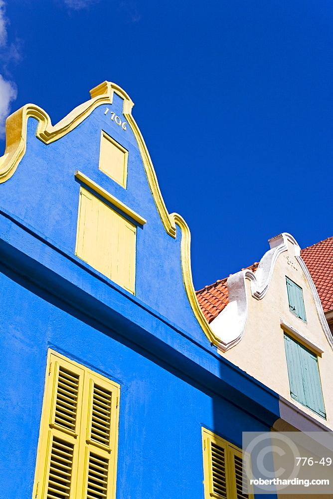 Dutch style architecture, Heerenstraat, Punda District, Willemstad, Curacao, Netherlands Antillies, West Indies, Caribbean, Central America