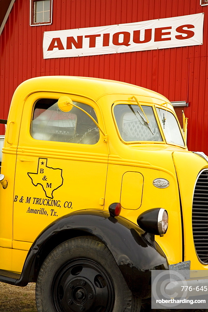 Old truck outside Antique Store, Amarillo, Texas, United States of America, North America