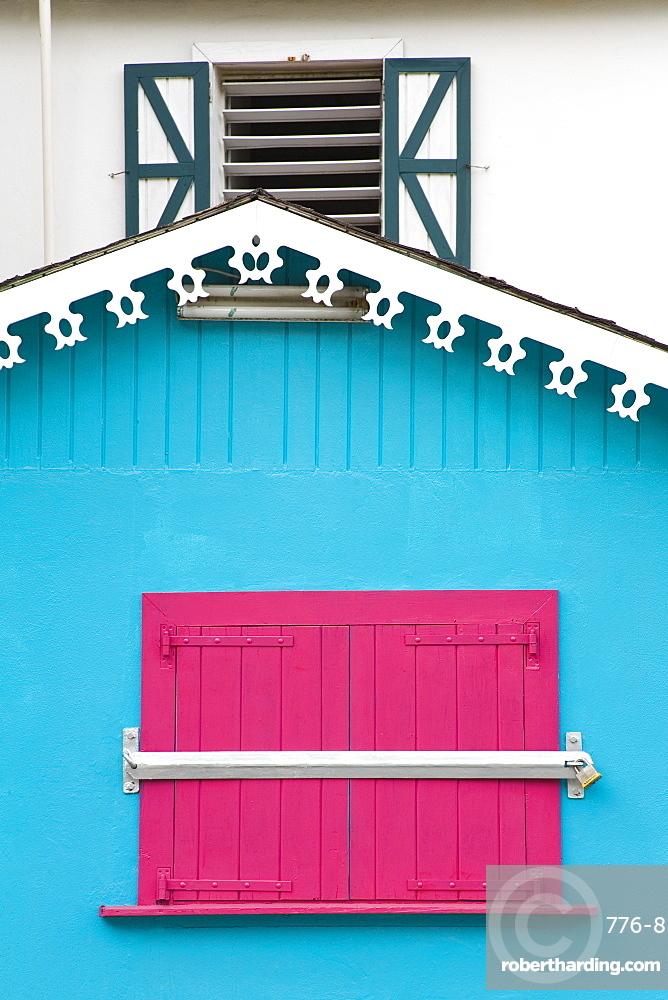 Architectural detail, Philipsburg, St. Maarten, Netherlands Antilles, West Indies, Caribbean, Central America