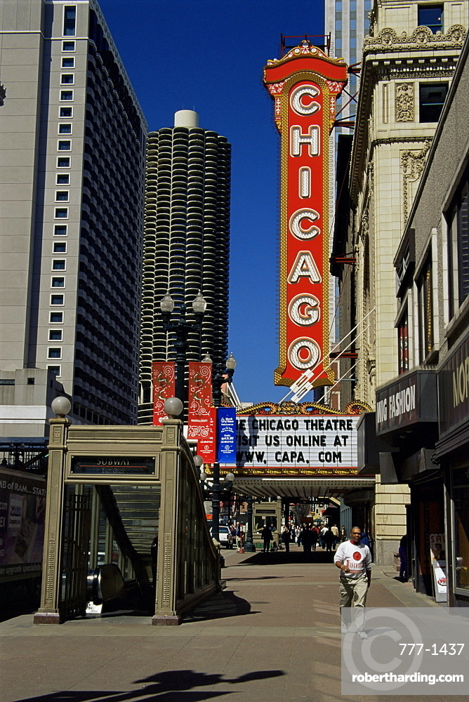 State Street, The Loop district, Chicago, Illinois, United States of America, North America