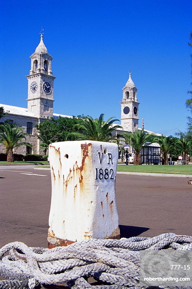 Clock towers, Royal Naval Dockyard, Sandys Parish, Bermuda, Central America