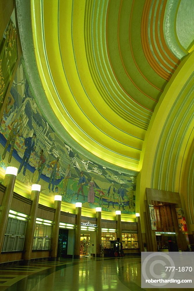 Lobby of Cincinnati Museum Center, Cincinnati, Ohio, United States of America, North America