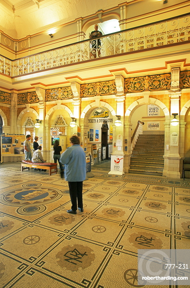 Lobby of railway station, Dunedin, Otago, South Island, New Zealand, Pacific