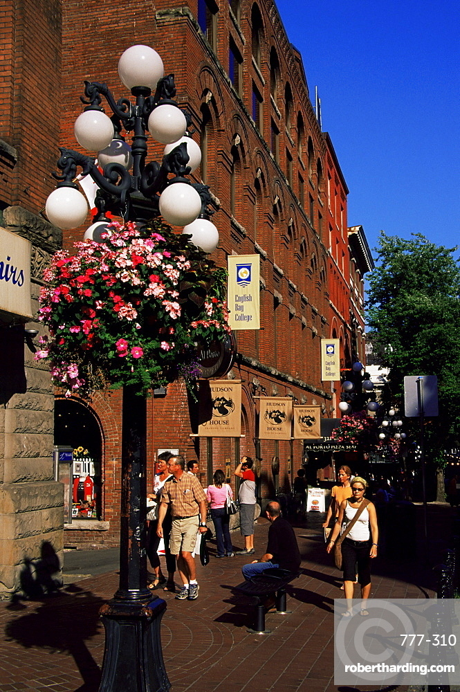 Water Street, Gastown district, Vancouver, British Columbia, Canada, North America