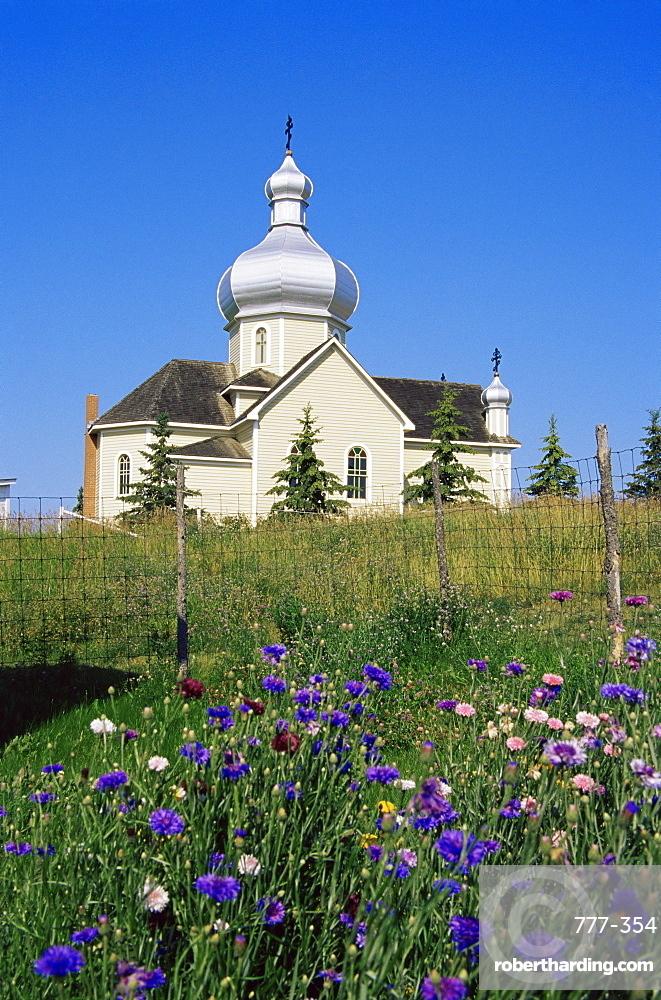 St. Vladimir's church, Ukrainian Heritage Village, Greater Edmonton area, Alberta, Canada, North America