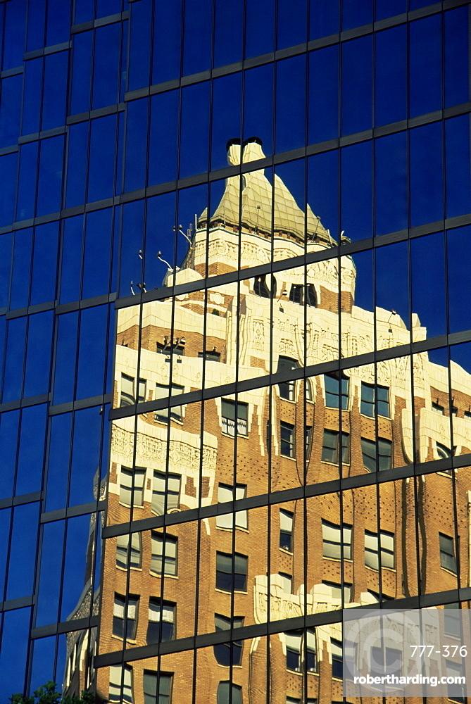 Reflection of Marine Building, Vancouver, British Columbia, Canada, North America