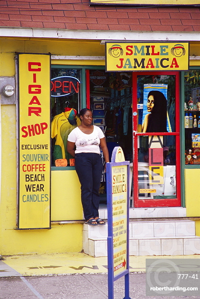 Shop, downtown, Montego Bay, Jamaica, West Indies, Caribbean, Central America