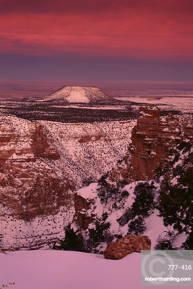 Sunset, Desert View Overlook, South Rim, Grand Canyon, UNESCO World Heritage Site, Arizona, United States of America, North America