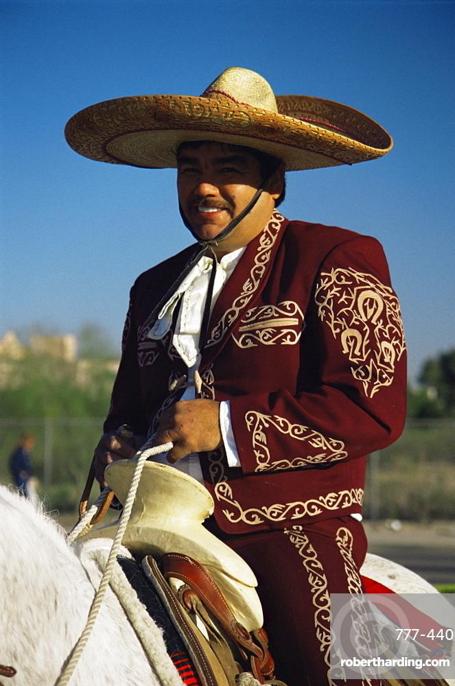 Mexican rider, Tucson Rodeo parade, Tucson, Arizona, United States of America, North America