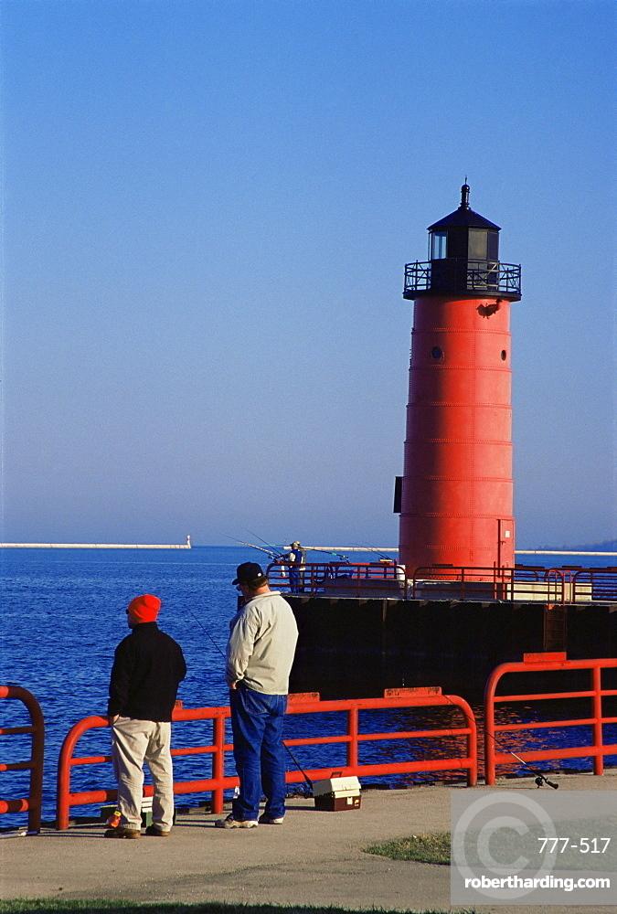 Milwaukee Pierhead lighthouse, Milwaukee, Wisconsin, United States of America, North America