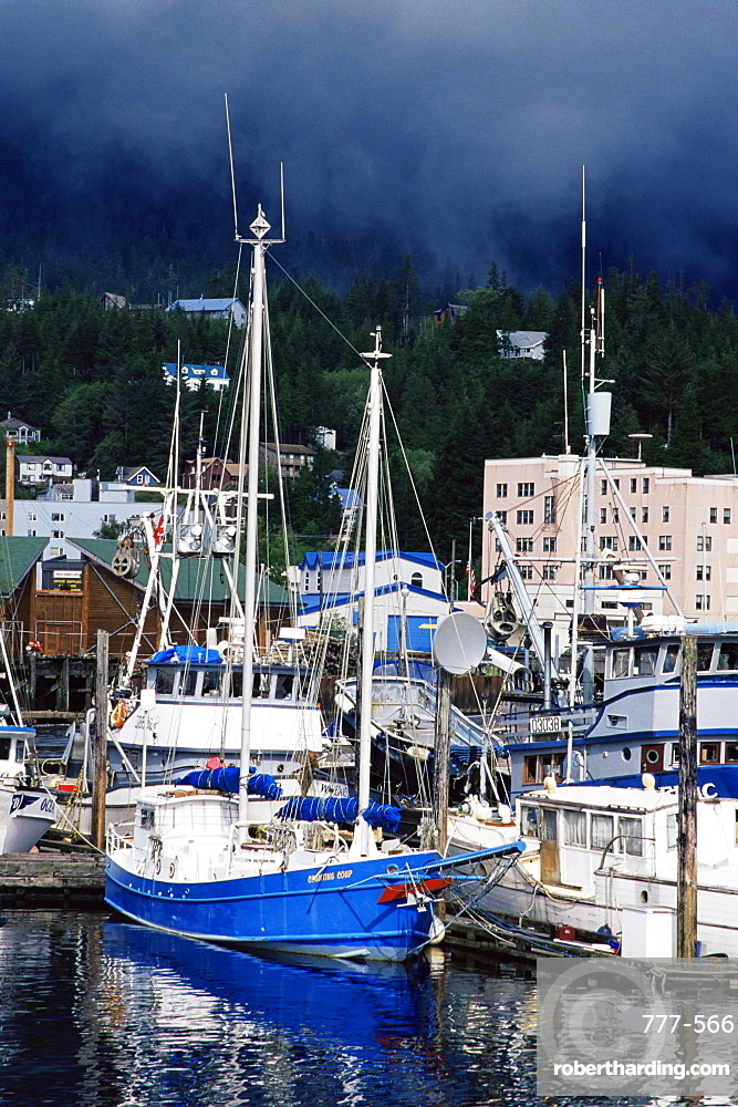 Thomas Basin boat harbor, Ketchikan, Alaska, United States of America, North America
