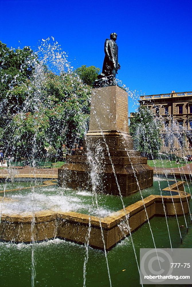 Fountain at Franklin Square, Hobart, Tasmania, Australia, Pacific