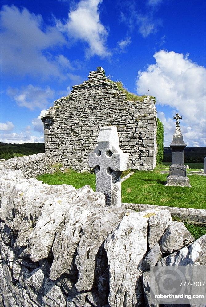 Carran church, The Burren, County Clare, Munster, Republic of Ireland, Europe