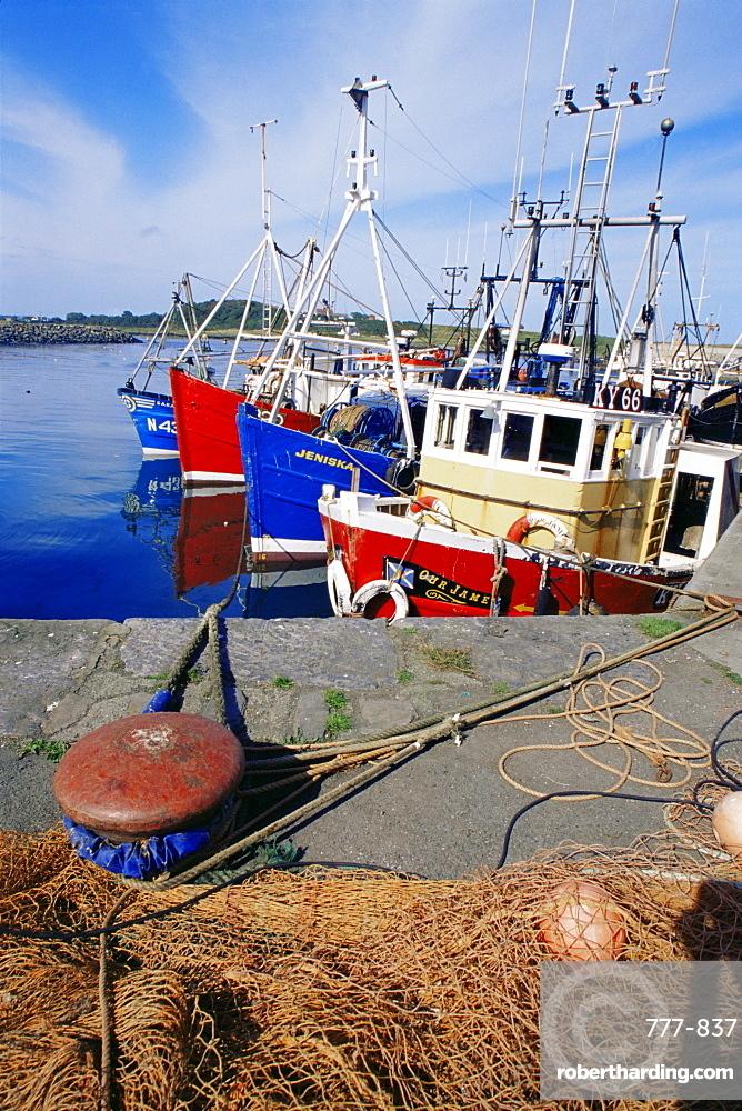 Fishing port, Ardglass, County Down, Ulster, Northern Ireland, United Kingdom, Europe