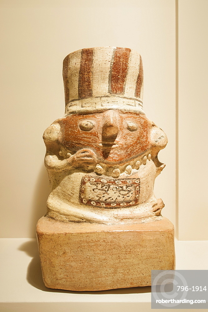 Pre-Columbian artifacts and art in the Larco Museum, Lima, Peru, South America