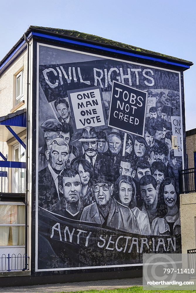 Ireland, North, Derry, The People's Gallery series of murals in the Bogside, Mural known as