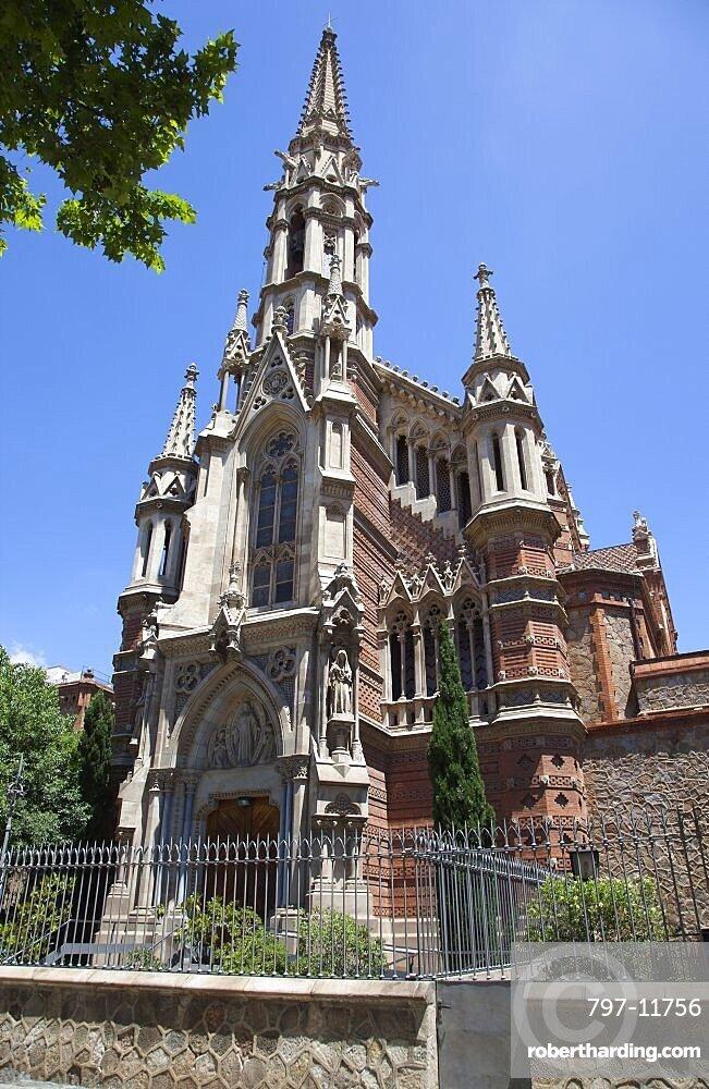 Spain, Catalonia, Barcelona, Eixample, Church of Sant Francesc de Sales on Passeig St Joan, a former convent chapel.