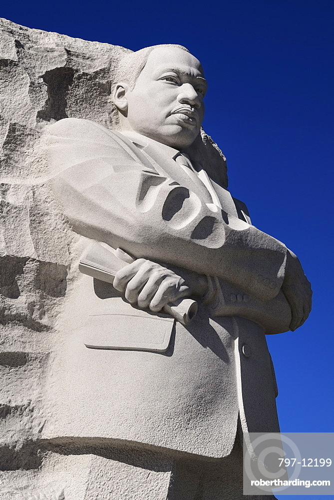USA, Washington DC, National Mall, Martin Luther King Junior Memorial.