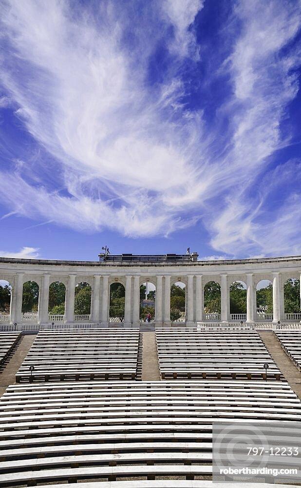 USA, Washington DC, Arlington National Cemetery, The Memorial Amphitheater.