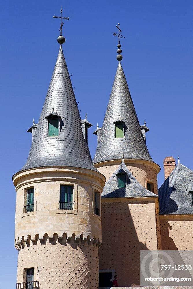 Spain, Castille-Leon, Segovia, The Alcazar.
