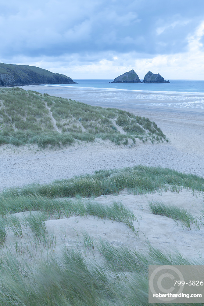Holywell Bay from the sand dunes, Cornwall, England, United Kingdom, Europe