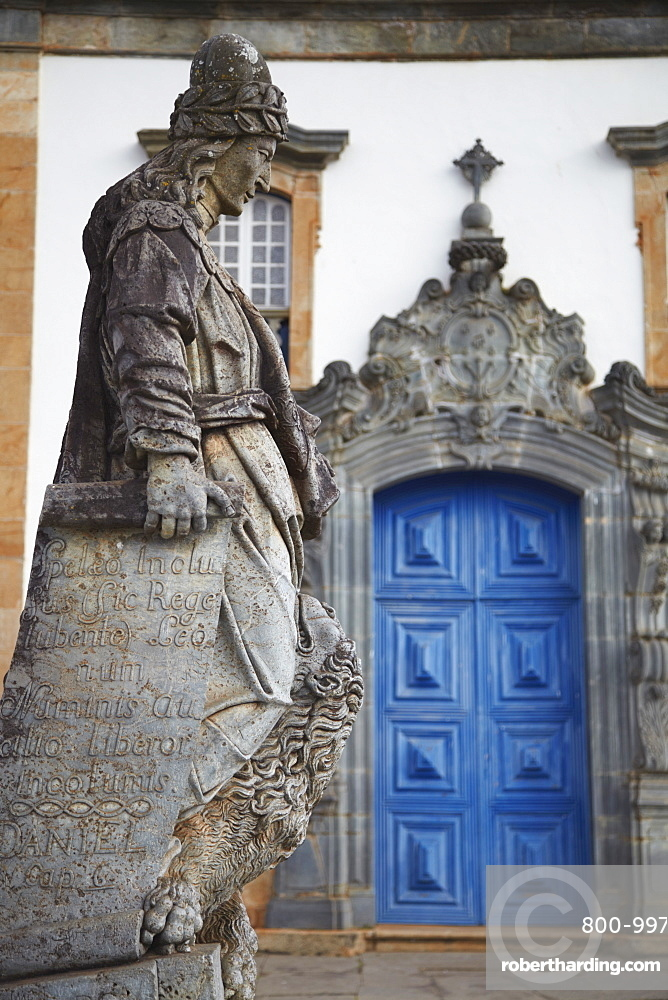 The Prophets sculpture by Aleijadinho at Sanctuary of Bom Jesus de Matosinhos, UNESCO World Heritage Site, Congonhas, Minas Gerais, Brazil, South America