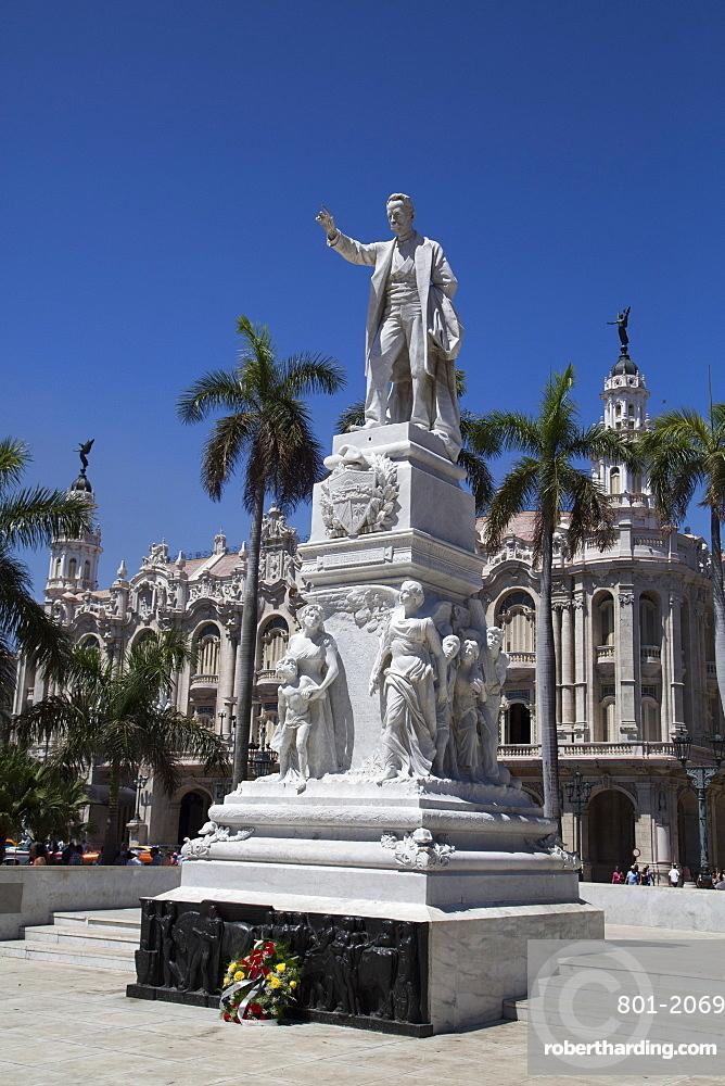 Statue of Joe Marti, Centro Habana, Havana, Cuba, West Indies, Central America