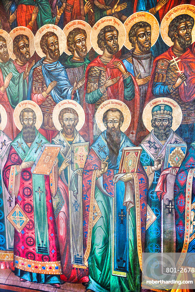 Frescoes, St Michael the Archangel Church, UNESCO Site, Yaroslavl, Golden Ring, Yaroslavl Oblast, Russia