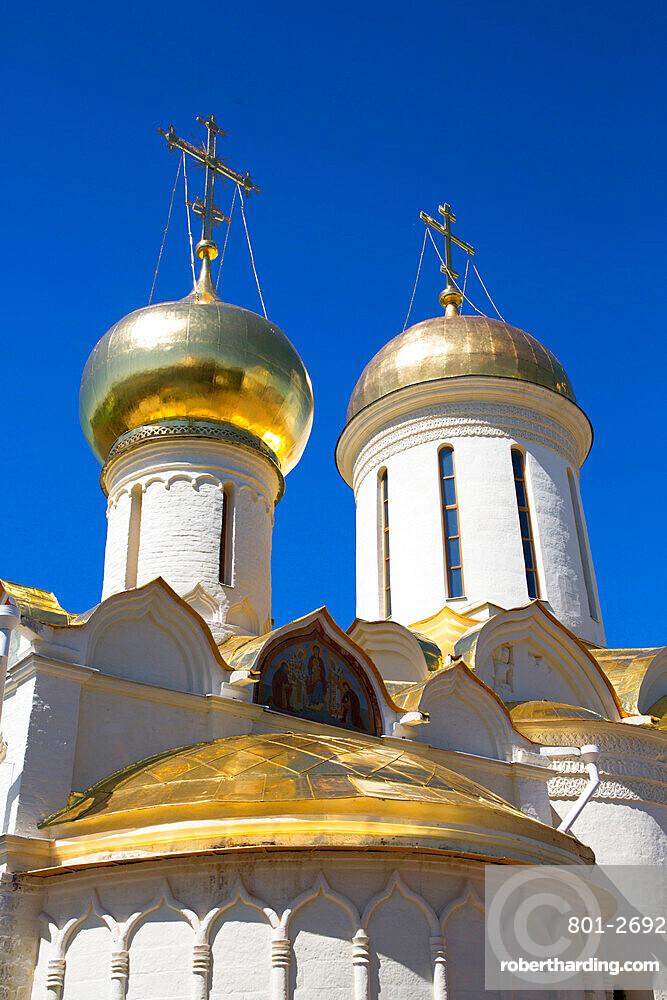 Holy Trinity Cathedral, The Holy Trinity St Sergius Lavra, UNESCO Site, Sergiev Posad, Golden Ring, Moscow Oblast, Russia