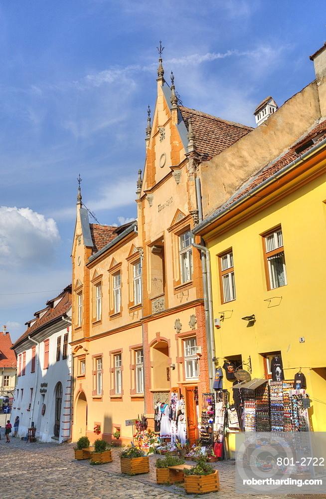 Medieval Buildings, Sighisoara, UNESCO World Heritage Site, Mures County, Transylvania Region, Romania