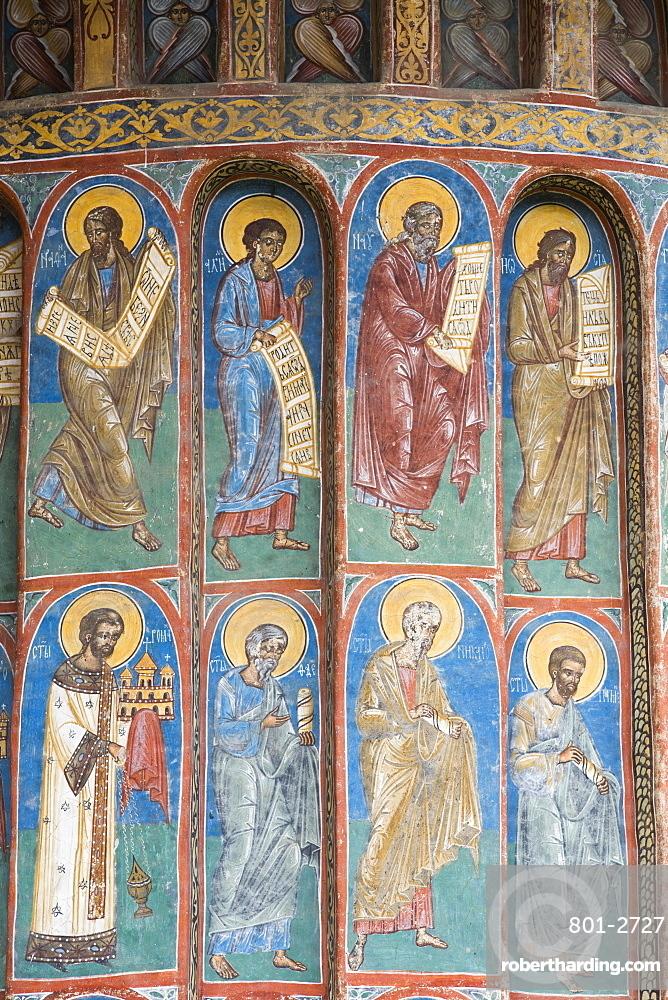 Exterior Frescoes, Voronet Monastery, 1487, UNESCO World Heritage Site, Gura Humorului, Suceava County, Romania