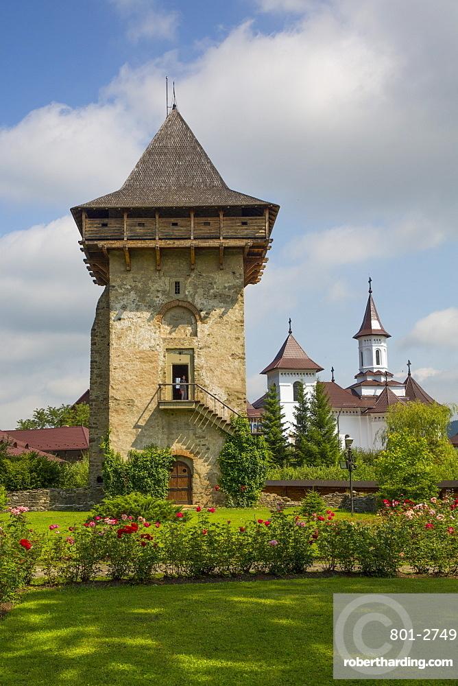 Tower, Humor Monastery, 1530, UNESCO World Heritage Site, Manastirea Humorului, Suceava County, Romania