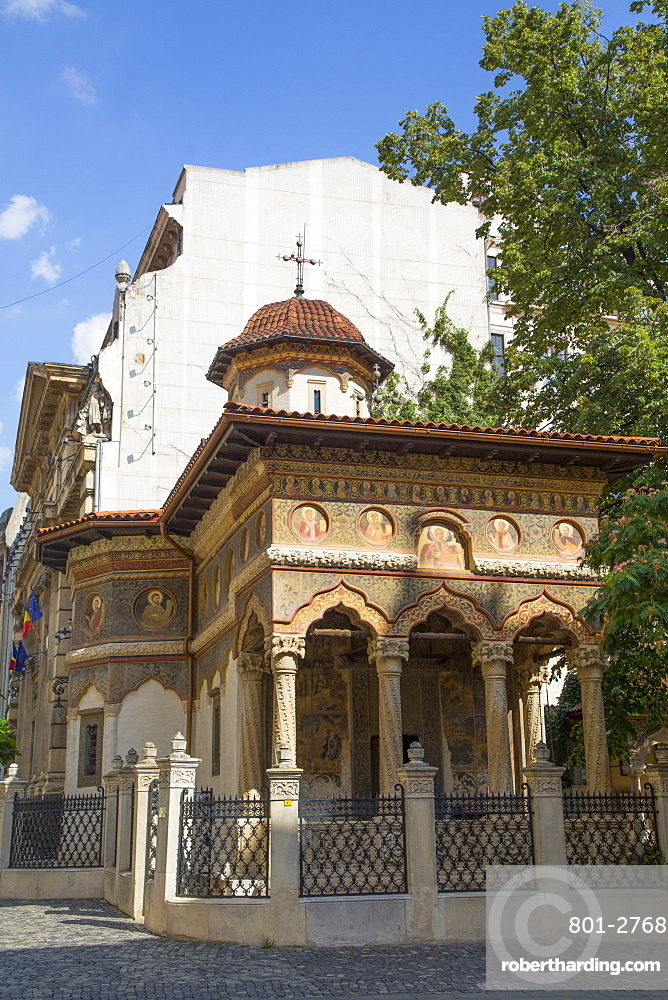 Stavropoleos Monastery, dating from 1724, Old Town, Bucharest, Romania, Europe