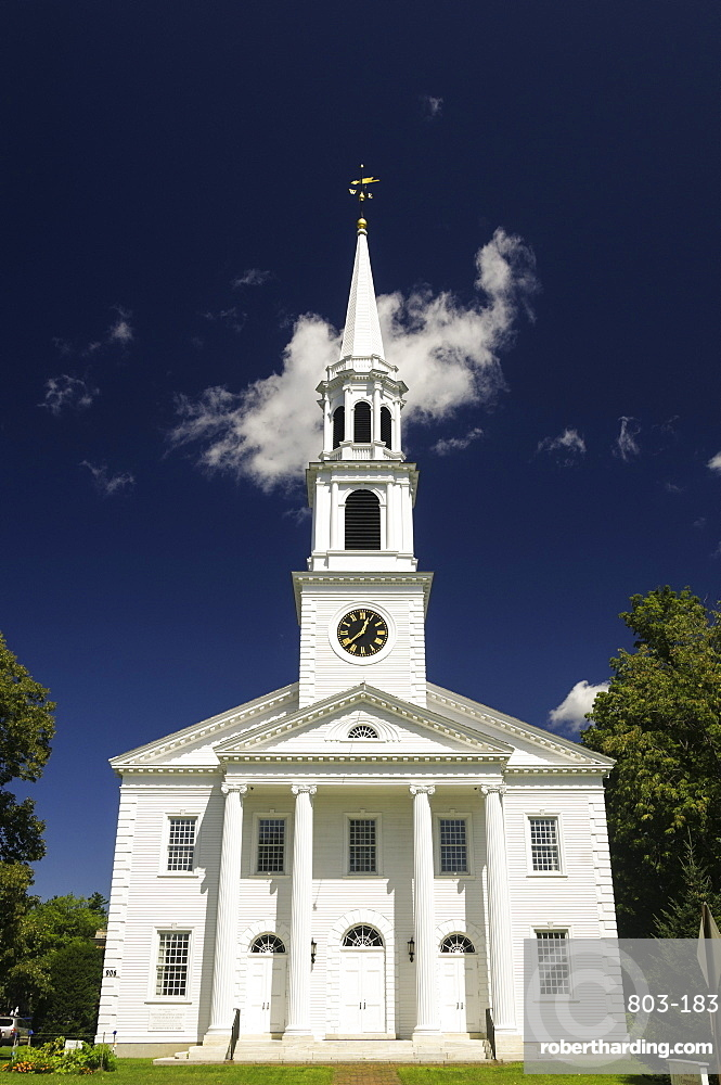 The First Congregational Church in Williamstown. Massachusetts, New England, United States of America, North America