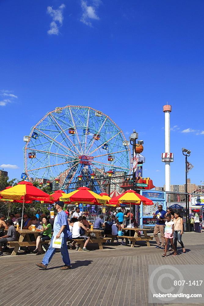 Boardwalk, Coney Island, Brooklyn, New York City, United States of America, North America