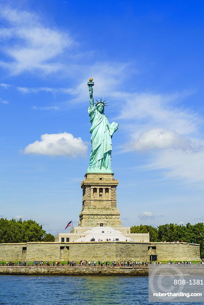 Statue of Liberty and Liberty Island, New York City, New York, United States of America, North America