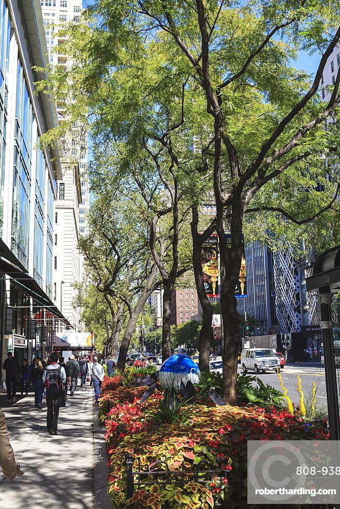 The Magnificent Mile, North Michigan Avenue, Chicago's premier shopping street, Chicago, Illinois