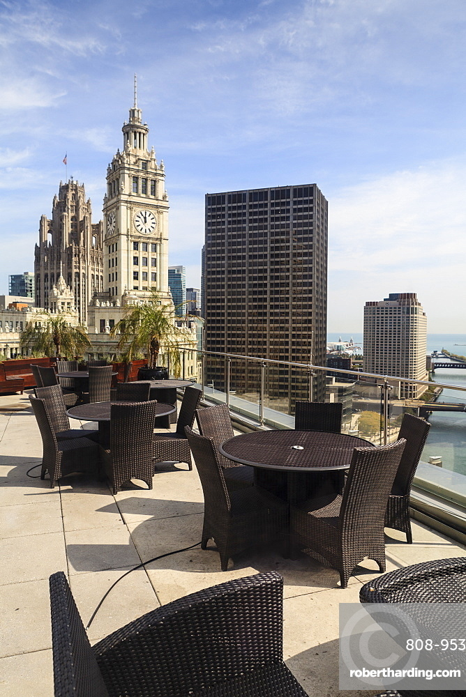 View from Trump Tower Hotel, Chicago, Illinois, United States of America, North America