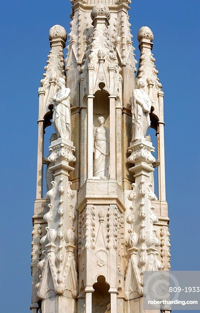 Detail of Duomo, Milan, Lombardy, Italy, Europe