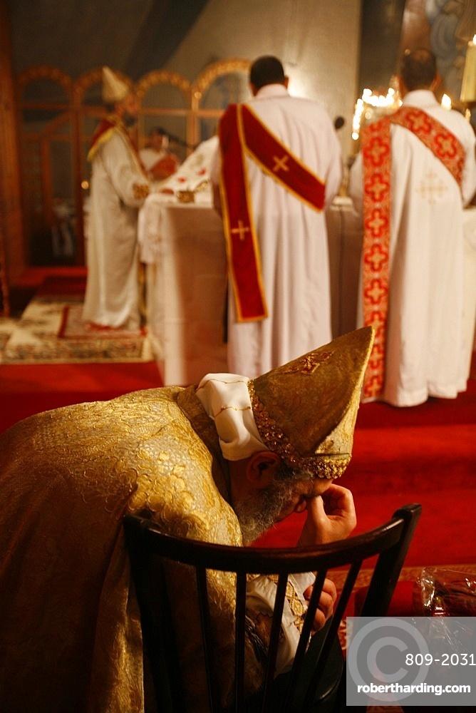 Orthodox Coptic celebration, Chatenay-Malabry, Hauts-de-Seine, France, Europe