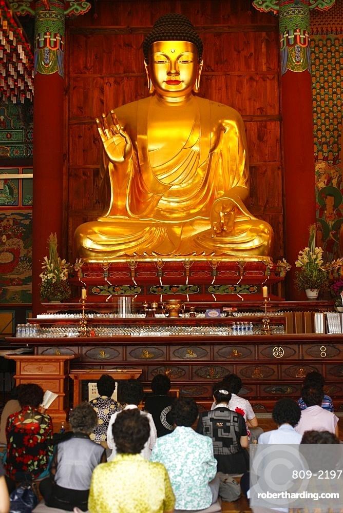 Sakyamuni Buddha, Jogyesa Temple, Seoul, South Korea, Asia