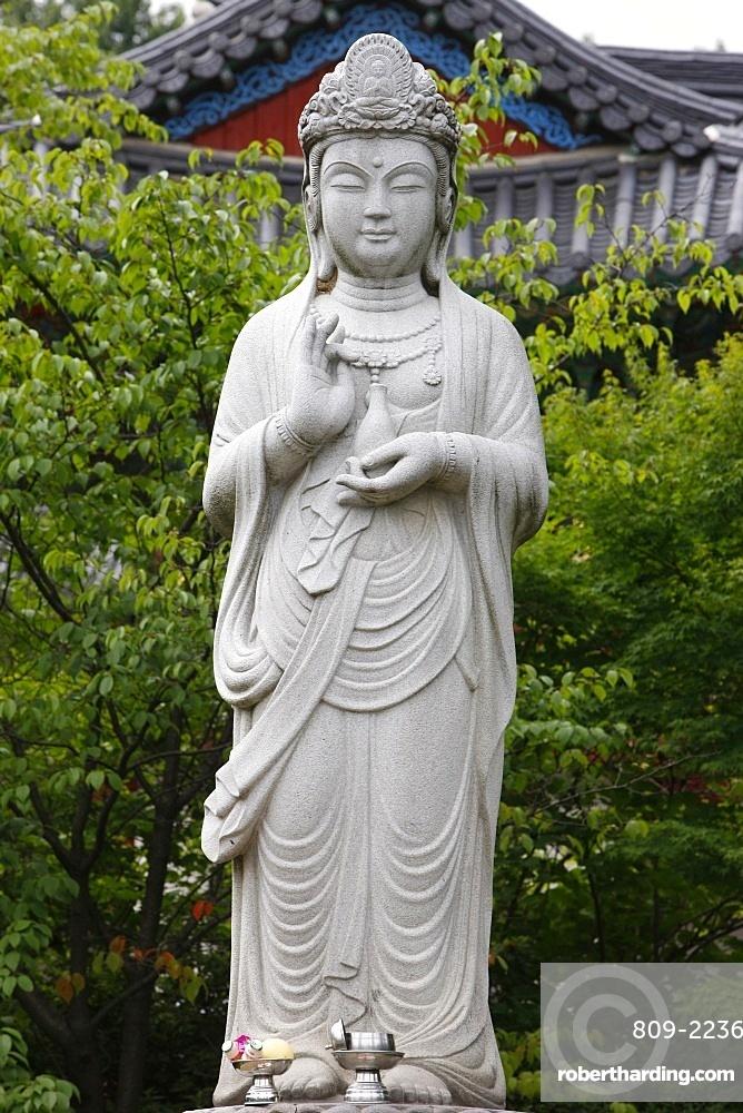 The Bodhisattva of Compassion, Bongeunsa temple, Seoul, South Korea, Asia