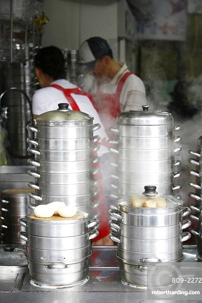 Steam cooking, Seoul, South Korea, Asia