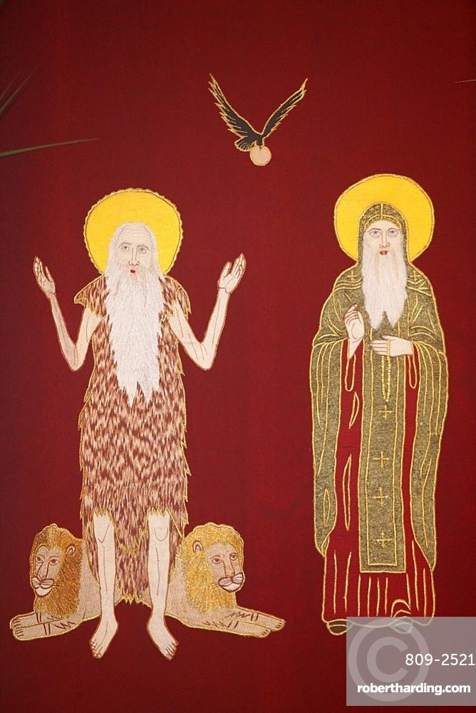 Orthodox Coptic icon, Chatenay-Malabry, Hauts de Seine, France, Europe