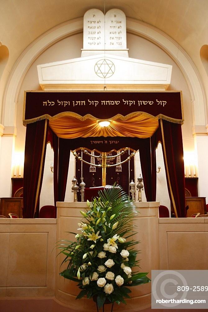 Synagogue wedding canopy, Neuilly-sur-Seine, Hauts de Seine, France, Europe