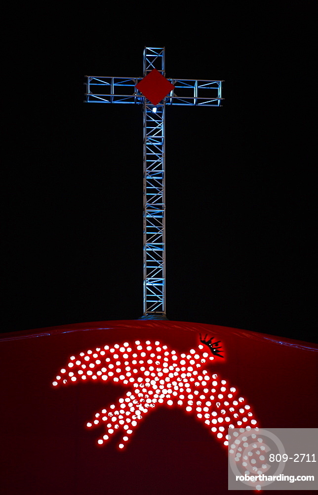 Cross and Holy Spirit, World Youth Day in 2008, Sydney, New South Wales, Australia, Pacific